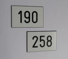 1 Stück PVC Schilder Zahlenmarken Ziffernschilder  60mm x 40mm Gravur kostenlos