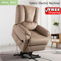 Electric Power Lift Recliner Chair Sofa Padded Seat Armchair Lounge For Elderly