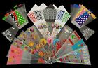 Coloured Cello Party Cone Bags Kids Gift Bag for Candy Sweet Treat Plastic Clear