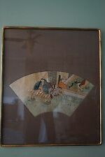 Framed - Asian Art Print on Hand Fan by Yoshiiku Utagawa