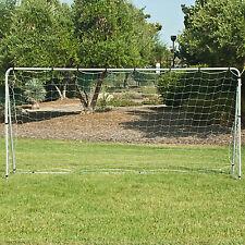 12' x 6' White Steel Soccer Goal Post Nylon Net Training Practice Anchors Straps
