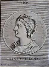 SAINTE HELENE, PORTRAIT, GRAVE PAR PICART,  GRAVURE ORIGINALE DE 1731