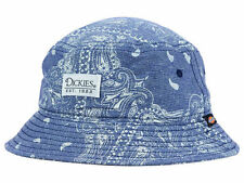 Dickies Work Wear Blue Paisley Print Bucket Style Fishing Cap Hat