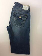 True Religion Disco Beaky Ladies Jeans, Size 26, Denim Blue Diamonte Buttons