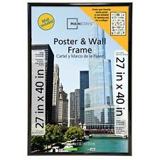 "Mainstays 27""x40"" Black Poster Picture Large Frame Home Wall Decor Collage Matte"