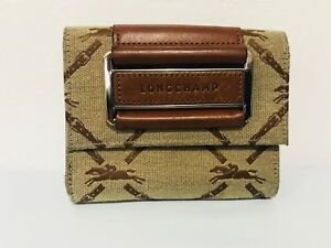 Longchamp Le Foulonne Bi-Fold Wallet with Coin Pouch - BROWN - BRAND NEW