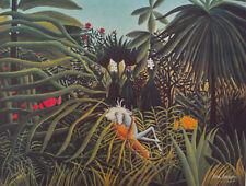 ROUSSEAU Henri, Pferd und Jaguar - NEU hochwertig LICHTDRUCK Kunstdruck selten