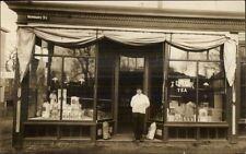 205 Newbury St. Store Shop Keeper c1910 Real Photo Postcard BOSTON on Back