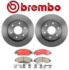 Pair Set of 2 Front Vented Disc Brake Rotors 330mm Ceramic Brake Pad Set Brembo