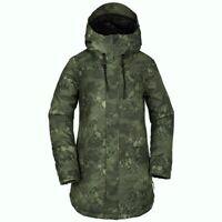 VOLCOM Women's WINROSE Insulated Snow Jacket - CAM - Small - NWT