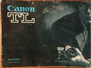 CANON TL Instruction Manual.  Good condition.