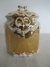 RARE ANTIQUE FRENCH PORCELAIN CANISTER CIRCA 1900 MARKED AND NUMBERED