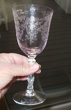 LENOX ETCHED CRYSTAL NAVARRE PINK Wine Glass (glasses) MINT NEVER USED!