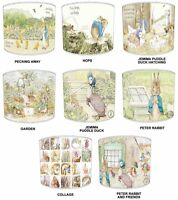 Children`s Beatrix Potter Lampshades, Ideal To Match Beatrix Potter Curtains.