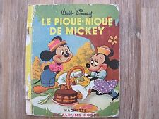 Le Pique Nique de Mickey - Album Rose Hachette - 1951