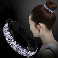 Hairpin Hair Clip Holder Crystal Comb Women Girls Ponytail Fashion Bun Claw