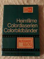 RAR 69 Seiten /VEB DEFA Kopierwerke Katalog 8 mm Heimfilme Dias Diafilme 1969/70