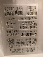 Hero Arts Poly Stamp Worry Less Dog Life Sayings Journey Zest CL387