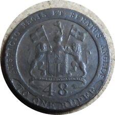 elf India British Madras Presidency 1/48 Rupee 1 Dub 1794  Lion