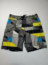 Hurley Phantom Swim Boardshorts Rainbow Mens Size 36 Multicolored Square Pattern