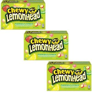 3x Chewy Lemonhead Fiercely Citrous American Sweets Candy Box American Candy 23g