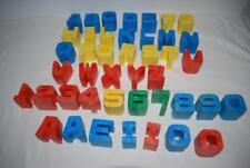 Vintage 1970s Mattel Tuff Stuff Alphabet Blocks 3D ABC Number Building
