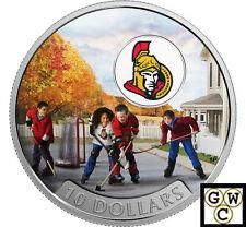 2017 $10 FINE SILVER COIN PASSION TO PLAY: OTTAWA SENATORS® (NT) (17857)