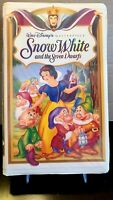 RARE Snow White And The Seven Dwarfs VHS,Walt Disney Masterpiece Collection 1524