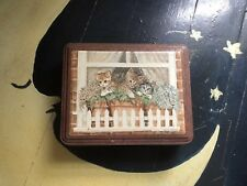 Three Kittens Cats (not On a Hot Tin Roof; on a window picket fence) Collectible