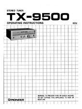 Pioneer TX-9500 Receiver Owners Manual