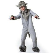 Kinder Mädchen Jungen Kostüm Wolf Plüsch Overall Fasching Karneval Verkleidung
