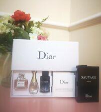 DIOR Miniature perfume Gift Set MissDior EDP J'Adore EDP Sauvage EDT & sample🌸