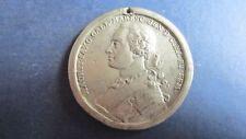 Medaille Zinn Frankreich Maurit Saxo Marschall ohne Jahr, ca. 55 mm in s  (N44)