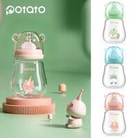 POTATO 1PCS Baby Bottles Newborn Anti Colic Mini Baby Glass Bottles 150ml / 5oz