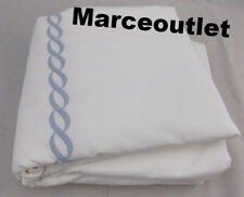 Matouk Classic Chain 350 Thread Count Percale Twin Duvet Cover Light Blue