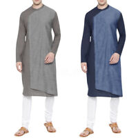 Men's Thobe Robe Muslim Abaya Islamic Saudi Daffah Kaftan Dishdasha Arab Clothes