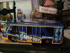 2018 METRO TRANSIT☆ SWIFT SHUTTLE bus☆blue;orange disc;✈ AIRPORT✈Loose MATCHBOX