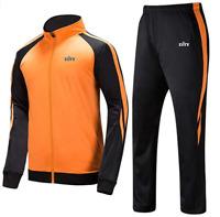 Mens Tracksuit Set Jumpsuit Joggers Jackets Pants Sweatsuit Activewear Winter US
