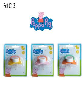 3PCS Peppa Pig Silicone Soother Set-BPA Free Toddler Soothes,Babies Dummy & Clip