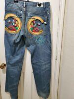 Vintage Hip Hop Urban Men's Coogi Dark 42 X 35 Denim Jeans Pants Embroidered A15