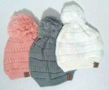 3 PACK Toddler Girls Boys Kids Baby Winter Warm Knit Crochet Hat Beanie Cap