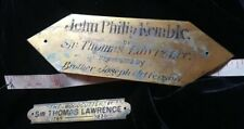 Sir Thomas Lawrence Original 19thC. Gilt NAMEPLATE Title Plaque