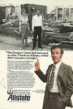 ALLSTATE INSURANCE COMPANY Original 1978 Vintage Print Advertisement - Tornado