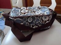 Vera Bradley insulated mini lunch cooler in Slate Blooms