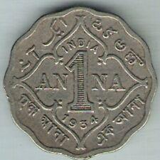 BRITISH INDIA - 1934 - GEORGE V - ONE ANNA  COIN EX-RARE COIN