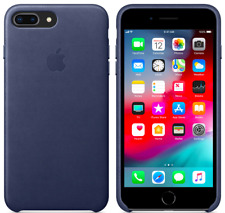 Apple Original Genuine Leather Cover Case iPhone 8/7 Plus - Midnight Blue