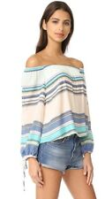 Wildfox Couture♡Off Shoulder Stripe Top♡in Multi♡XS NWT $138♡Chic Elegance♡NYFW