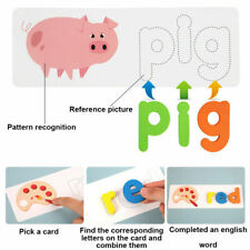 English Spelling Wooden Educational Toy Early Education Cardboard Alphabet Game