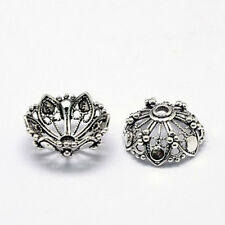 4PC 16.5mm antique silver finish brass made bead caps-1515L