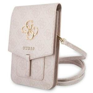 Guess kleine Luxus Handtasche Handytasche GUWBG4GFBR Pink mit 4G Big Logo